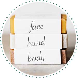 natural soap face hand body