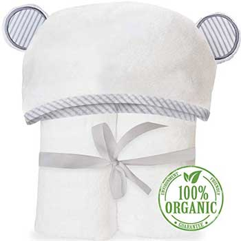 organic bamboo hooded baby toddler towel