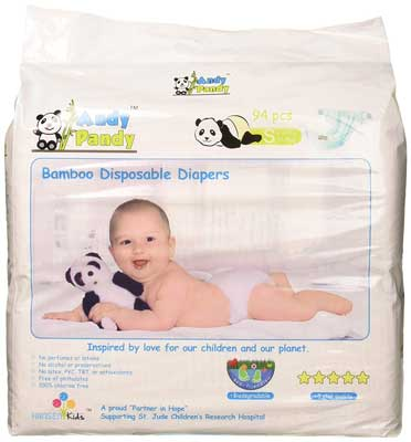 non-toxic diapers Andy Pandy