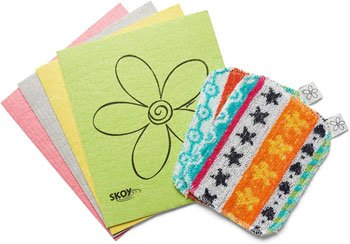 eco-friendly Skoy cloth and scrub pack