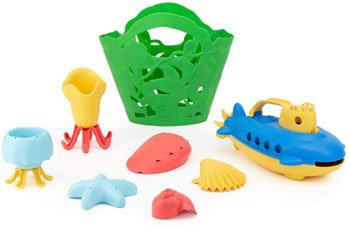 green toys non-toxic bath set