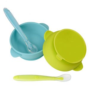 non-toxic silicone bowls and spoons